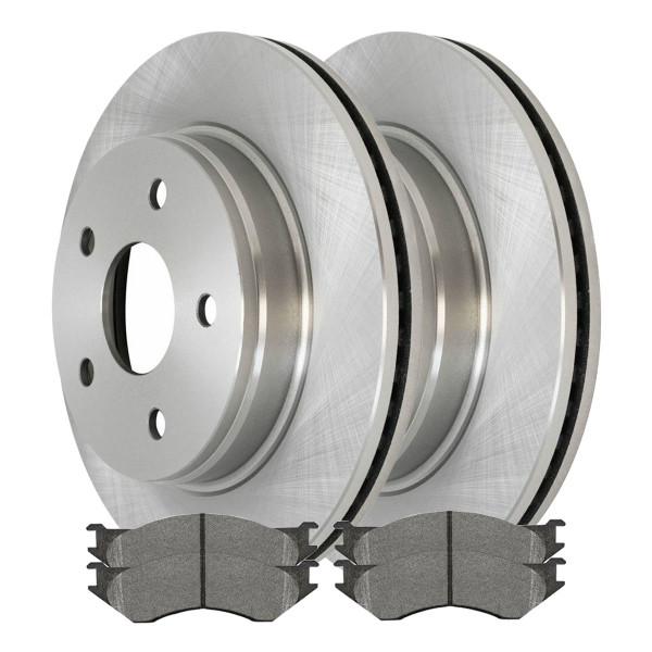 Front Semi Metallic Brake Pad and Rotor Bundle - Part # RSMK63007-63007-966-2-4