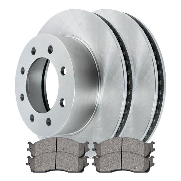 [Front Set] 2 Brake Rotors & 1 Set Semi Metallic Brake Pads - Part # RSMK63014-63014-965-2-4