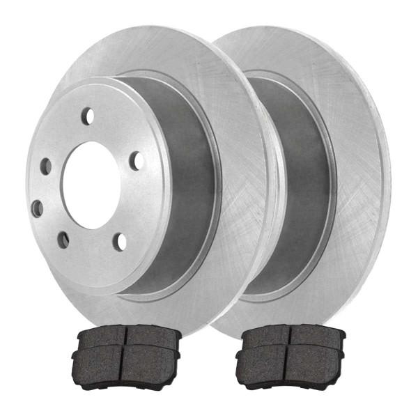Rear Semi Metallic Brake Pad and Rotor Bundle 4 Wheel Disc 10.313 Inch Rotor Diameter - Part # RSMK63038-63038-1037-2-4