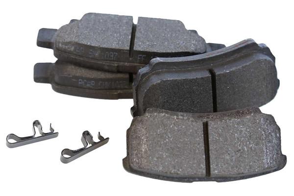 [Rear Set] 2 Brake Rotors & 1 Set Semi Metallic Brake Pads - Part # RSMK63038-63038-1037-2-4