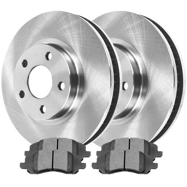 Front Semi Metallic Brake Pad and Rotor Bundle 11.57 Inch Rotor Diameter - Part # RSMK63040-63040-1285-2-4