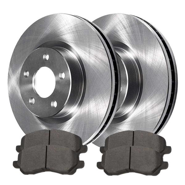 Front Semi Metallic Brake Pad and Rotor Bundle 11.57 Inch Rotor Diameter - Part # RSMK63040-63040-866-2-4