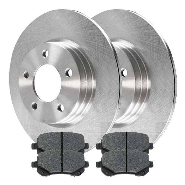Rear Semi Metallic Brake Pad and Rotor Bundle 12 Inch Rotor Diameter - Part # RSMK63052-63052-1326-2-4