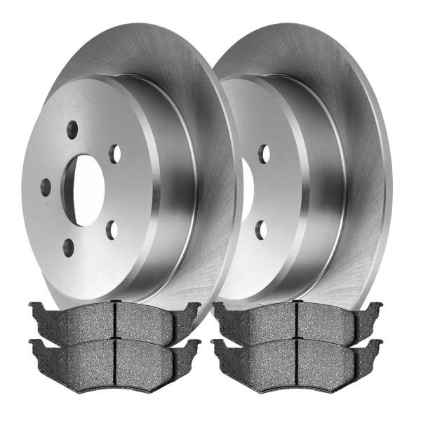 [Rear Set] 2 Brake Rotors & 1 Set Ceramic Brake Pads - Part # RSMK63776582