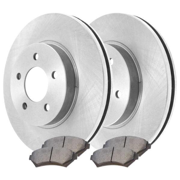 Front Semi Metallic Brake Pad and Rotor Bundle 5 Stud 11.92 Inch Rotor Diameter - Part # RSMK65036-65036-699-2-4