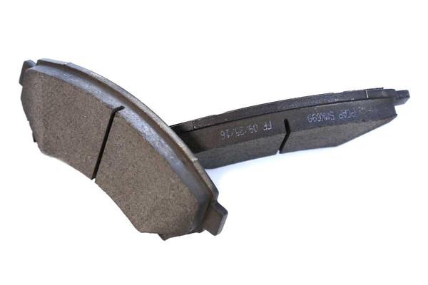 [Front Set] 2 Brake Rotors & 1 Set Semi Metallic Brake Pads - Part # RSMK65036-65036-699-2-4