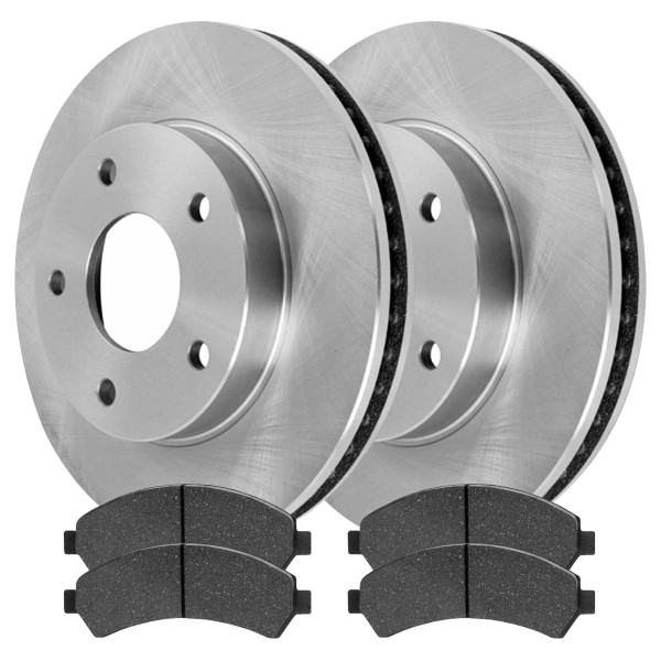 [Front Set] 2 Brake Rotors & 1 Set Semi Metallic Brake Pads - Part # RSMK65049726
