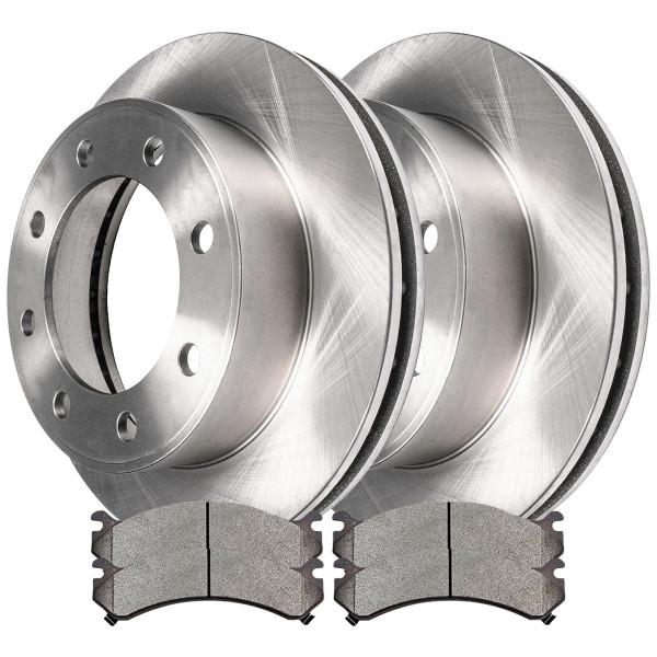 [Front Set] 2 Brake Rotors & 1 Set Semi Metallic Brake Pads - Part # RSMK65058-65058-784-2-4