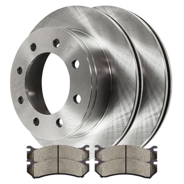 [Rear Set] 2 Brake Rotors & 1 Set Semi Metallic Brake Pads - Part # RSMK65059-65059-785-2-4