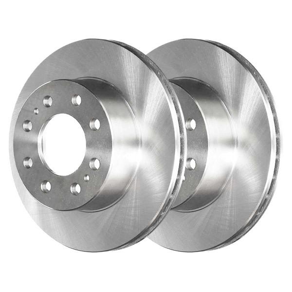Front Semi Metallic Brake Pad and Rotor Bundle 8 Stud - Part # RSMK65074-65074-784-2-4