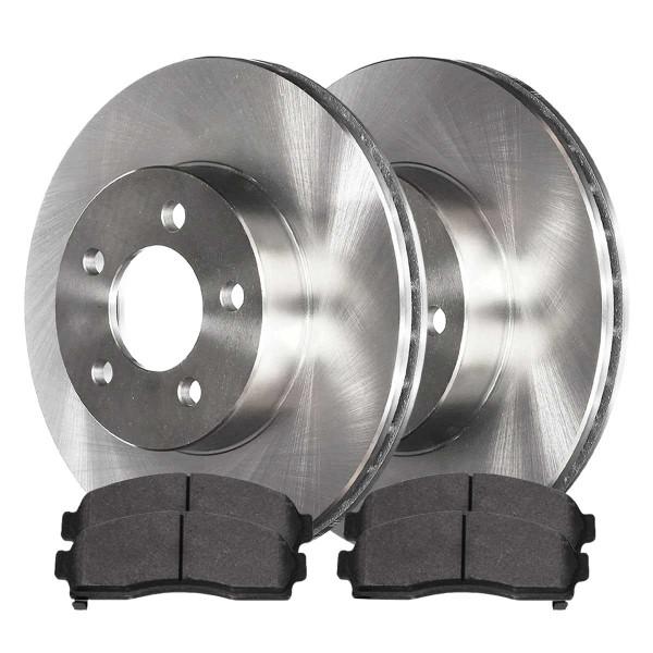 Front Semi Metallic Brake Pad and Rotor Bundle - Part # RSMK65082-65082-913-2-4