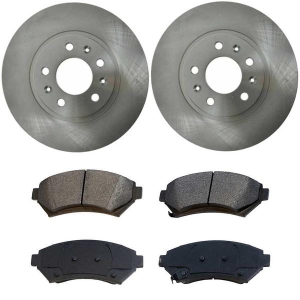 [Front Set] 2 Brake Rotors & 1 Set Semi Metallic Brake Pads - Part # RSMK65084699