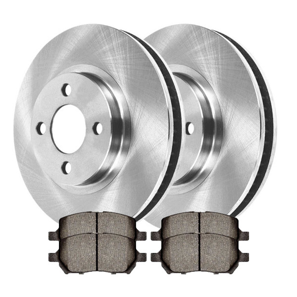 Front Semi Metallic Brake Pad and Rotor Bundle 4 Stud - Part # RSMK65085-65085-956-2-4