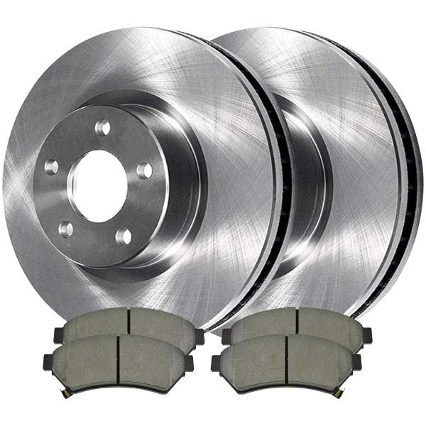 Front Semi Metallic Brake Pad and Rotor Bundle - Part # RSMK65089-65089-1075-2-4