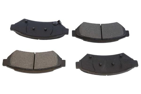 [Front Set] 2 Brake Rotors & 1 Set Semi Metallic Brake Pads - Part # RSMK65089-65089-1075-2-4