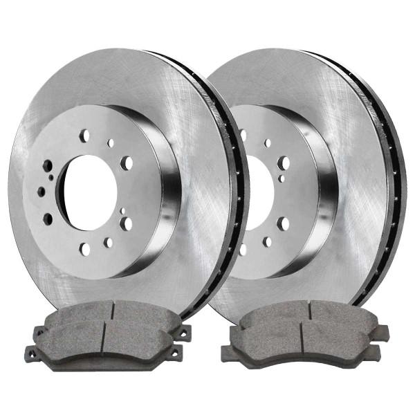 Front Semi Metallic Brake Pad and Rotor Bundle - Part # RSMK65099-65099-1092-2-4