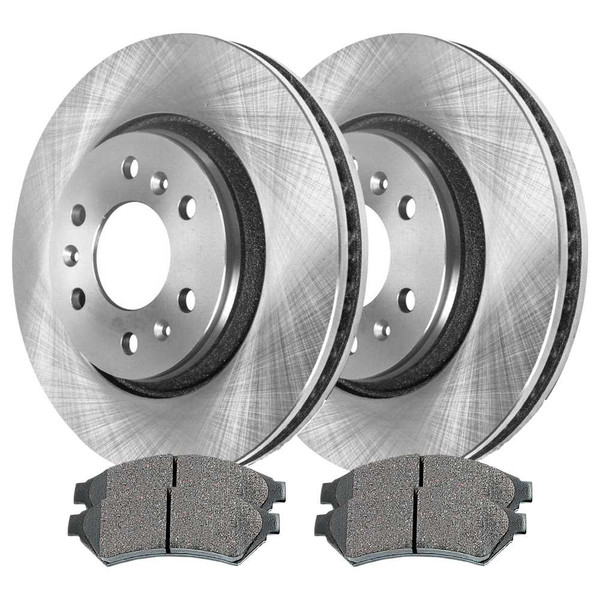 Front Semi Metallic Brake Pad and Rotor Bundle - Part # RSMK65120-65120-1075-2-4