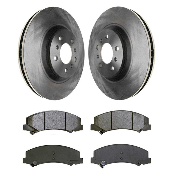 [Front Set] 2 Brake Rotors & 1 Set Semi Metallic Brake Pads - Part # RSMK65126-65126-1159-2-4