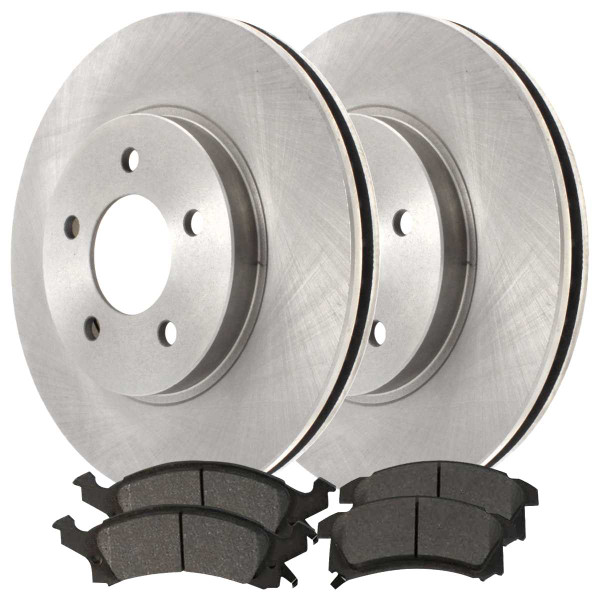 Front Semi Metallic Brake Pad and Rotor Bundle 230.1mm Rotor Diameter By 42.4mm Thick Brakes Rotors - Part # RSMK6582-6582-673-2-4