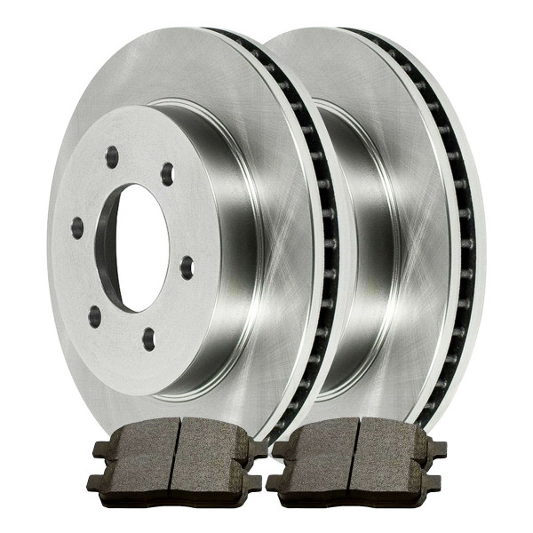 Front Semi Metallic Brake Pad and Rotor Bundle 6 Stud - Part # RSMKR641111083