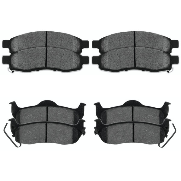 Front and Rear Ceramic Brake Pad Bundle - Part # SCD1015-1041