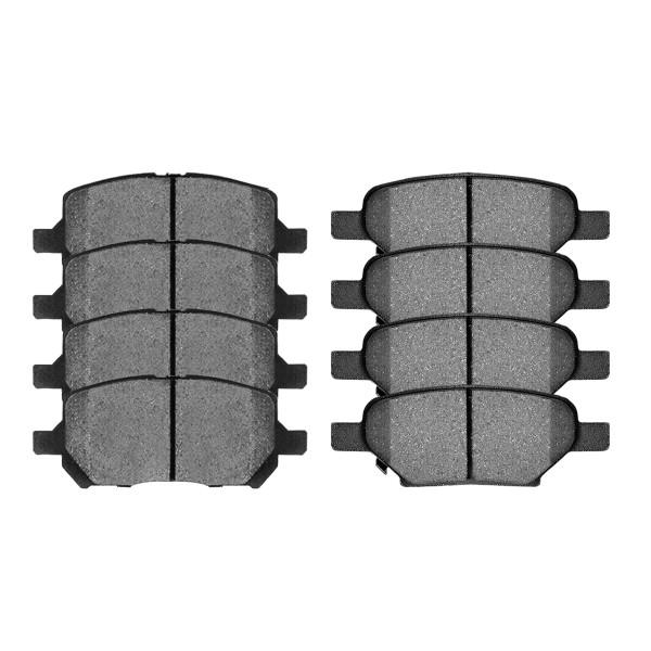 Front and Rear Ceramic Brake Pad Bundle 4 Wheel Disc - Part # SCD1033-956