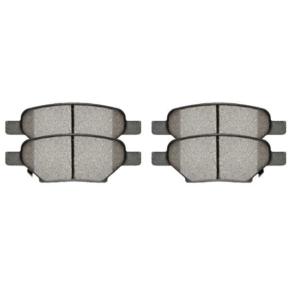 Rear Ceramic Brake Pad Set 4 Wheel Disc - Part # SCD1033