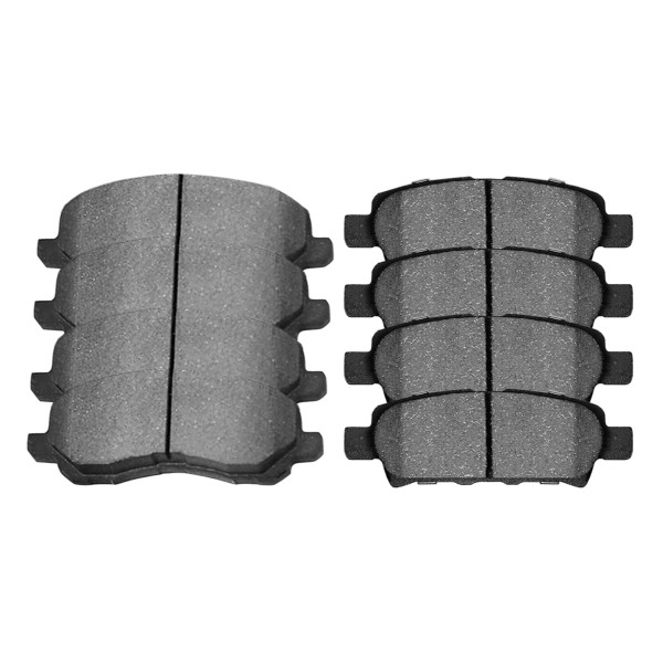 Front and Rear Ceramic Brake Pad Bundle 4 Wheel Disc - Part # SCD1037-866