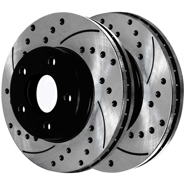 Front and Rear Ceramic Brake Pad and Performance Rotor Bundle - Part # SCD1037PR6401