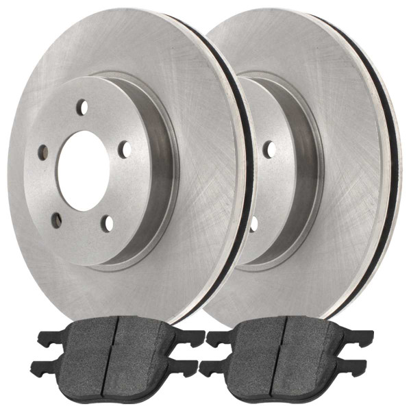 Front and Rear Ceramic Brake Pad and Rotor Bundle - Part # SCD10441042