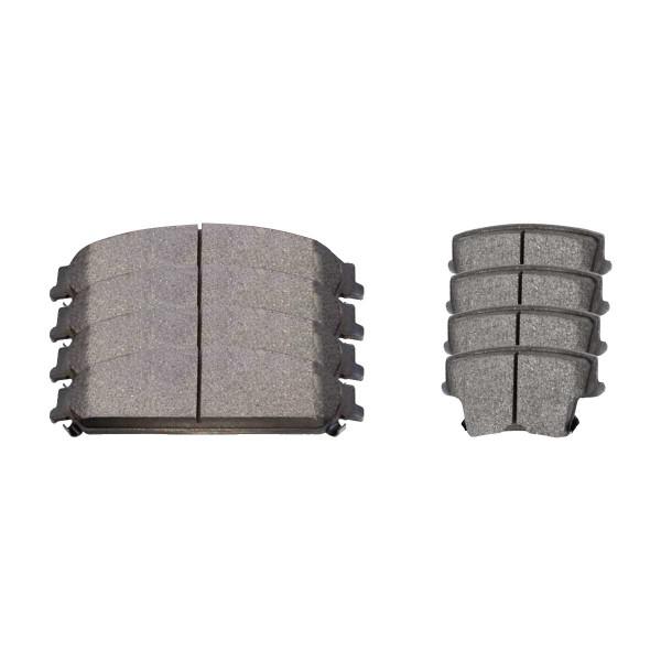Front and Rear Ceramic Brake Pad Bundle - Part # SCD1058-1057