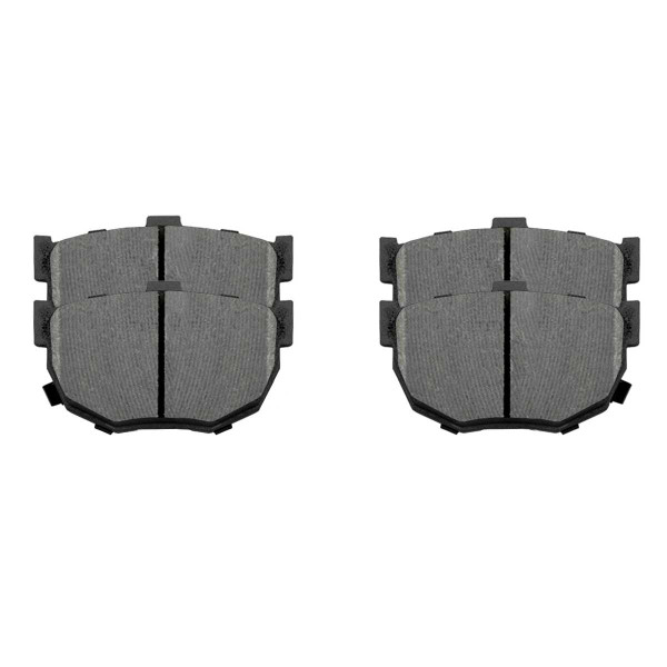 Front and Rear Ceramic Brake Pad Bundle 4 Wheel Disc - Part # SCD1074-323A