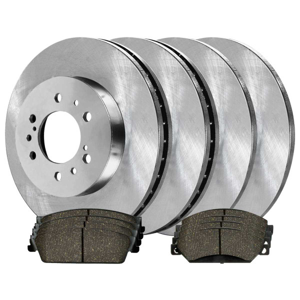 Front and Rear Ceramic Brake Pad and Rotor Bundle - Part # SCD10928324