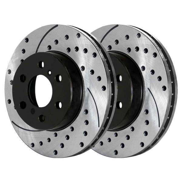 Front and Rear Ceramic Brake Pad and Performance Rotor Bundle - Part # SCD1092PR65099