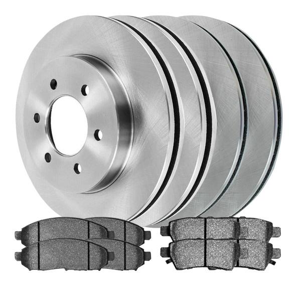 [Front & Rear Set] 4 Brake Rotors & 2 Sets Ceramic Brake Pads - Part # SCD10941659