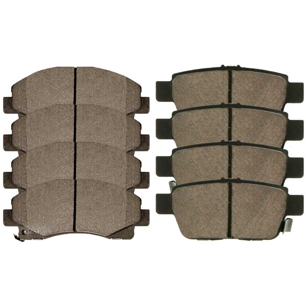Front and Rear Ceramic Brake Pad Bundle - Part # SCD1102-1103