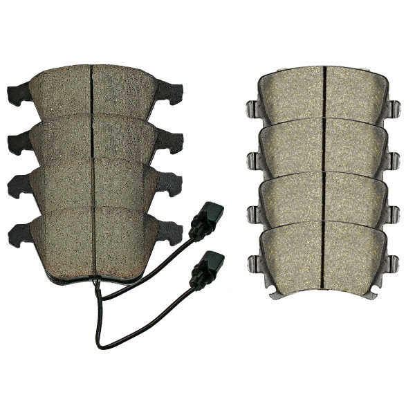 Front and Rear Ceramic Brake Pad Bundle - Part # SCD1108-1111