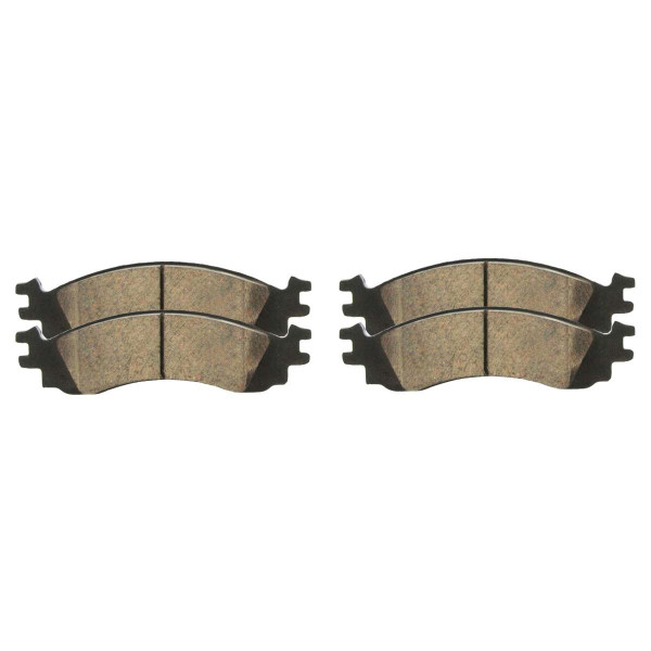 Front Ceramic Brake Pad Set - Part # SCD1158