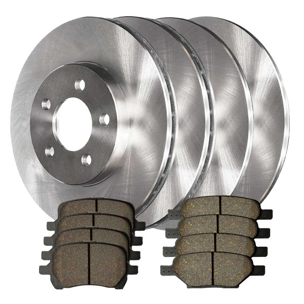 Front and Rear Ceramic Brake Pad and Rotor Bundle 276mm Front Rotor Diameter - Part # SCD11606179