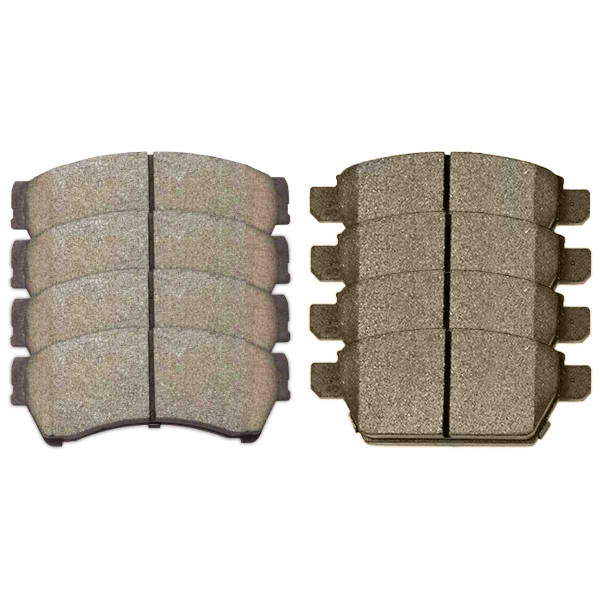 Front and Rear Ceramic Brake Pad Bundle - Part # SCD1192-1161