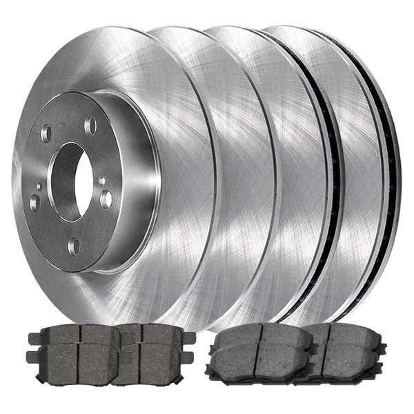 Front and Rear Ceramic Brake Pad and Rotor Bundle - Part # SCD121041507