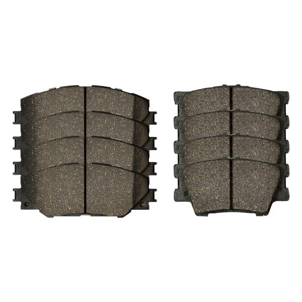 Front and Rear Ceramic Brake Pad Bundle - Part # SCD1212-1211