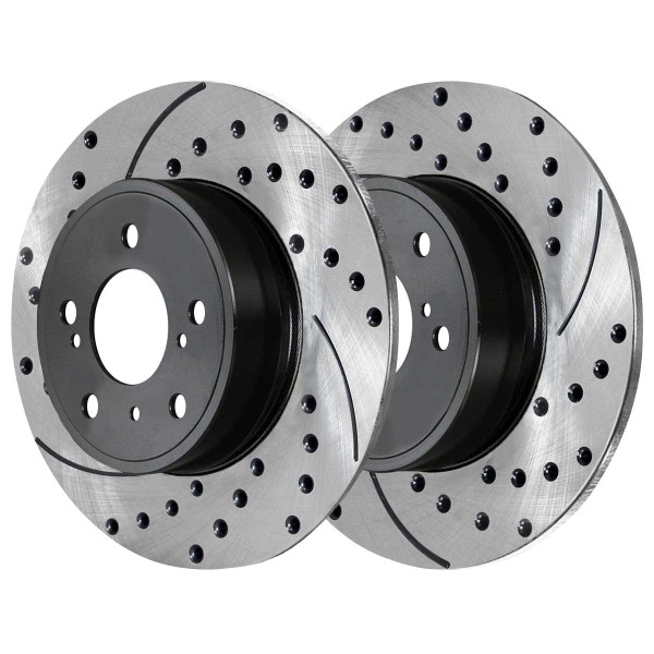 Front and Rear Ceramic Brake Pad and Performance Rotor Bundle - Part # SCD1212PR41435