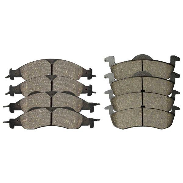 Front and Rear Ceramic Brake Pad Bundle - Part # SCD1278-1279