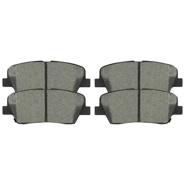 Rear Ceramic Brake Pad Set - Part # SCD1284