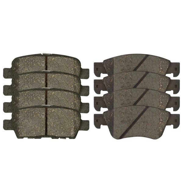 Front and Rear Ceramic Brake Pad Bundle - Part # SCD1287-905