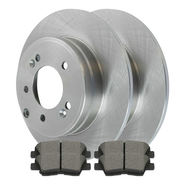 [Rear Set] 2 Brake Rotors & 1 Set Ceramic Brake Pads - Part # SCD1313-R41426
