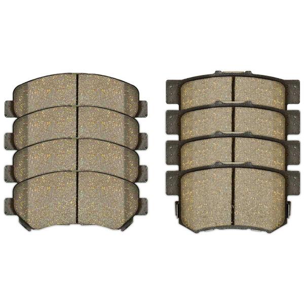 Front and Rear Ceramic Brake Pad Bundle - Part # SCD1338-537