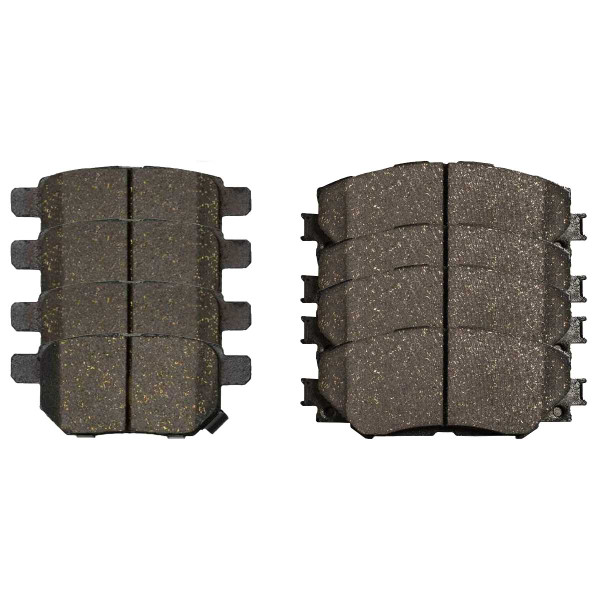 Front and Rear Ceramic Brake Pad Bundle 4 Wheel Disc - Part # SCD1354-1210