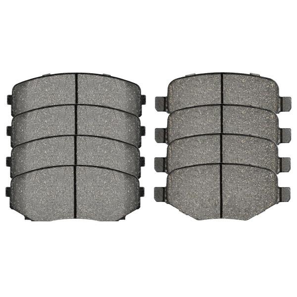 Front and Rear Ceramic Brake Pad Bundle - Part # SCD1377-1258